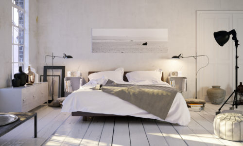 Schlafen in altem Altbau Loft - bedroom in old apartment