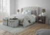 3d rendering. a luxury modern style bedroom.