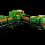 SpaltFix K-Vario to nowa pilarko-łuparka, która z dużych kłód produkuje najwyższej jakości drobne polana  ze zmienną, wybieraną długością krawędzi.