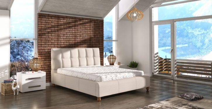 Łóżko tapicerowane Aston marki Comforteo_fot. Comforteo